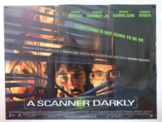 A SCANNER DARKLY (2006) - UK Quad Film Poster for this American animated adult sci-fi thriller based