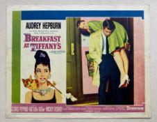 BREAKFAST AT TIFFANY'S (1961) - AUDREY HEPBURN - US Lobby Card #1 (NSS #61/262) - Audrey Hepburn &