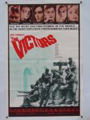 "THE VICTORS (1964) - US One Sheet Movie Poster- 27"" x 41"" (69 x 104 cm) Folded"
