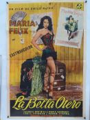 "LA BELLA OTERO (1954) - Argentinian One Sheet Printer's Proof Movie Poster- Folded -27"" x 41"" (69"