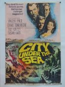 "CITY UNDER THE SEA (1965) - UK One Sheet Movie Poster- 27"" x 41"" (69 x 104 cm) Folded"