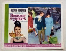 BREAKFAST AT TIFFANY'S (1961) - AUDREY HEPBURN - US Lobby Card #4 (NSS #61/262) - Audrey Hepburn &
