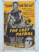 "THE LOST PATROL (1954 RE-RELEASE) - Starring BORIS KARLOFF - US One Sheet Movie Poster- 27"" x 41"" ("