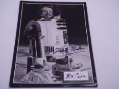 AUTOGRAPH: A signed KENNY BAKER (R2D2) publicity brochure - this item has been independently
