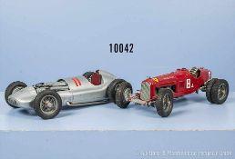Konv. 2 Casadio Oldtimer Rennwagen, Mercedes, Startnummer 11 und Ferrari Startnr. 8, lack.