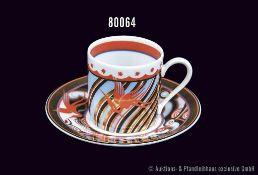 Rosenthal Porzellan, Sammeltasse, Classic Rose, Serie Aida Espresso, Dekor roter Reiher, Mokkatasse,
