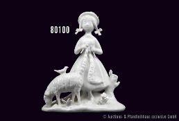 "Rosenthal Porzellan Figur, ""Strickerin"", Künstler Raymond Peynet, Modell Nummer 5119, Entwurf"