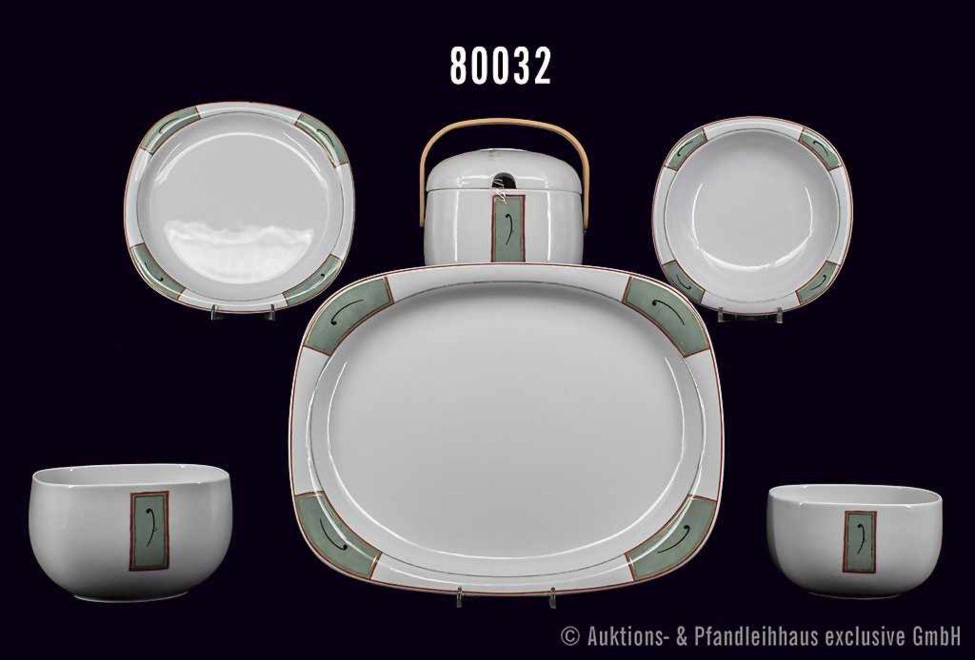 Konv. Rosenthal Porzellan, 16 Teile, Serie Suomi, Dekor Jang Pai, Design Timo Sarpaneva, jap.