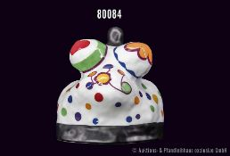 Rosenthal Porzellan, Nana Figur, Steudekor aus bunten Punkten, Entwurf Niki de Saint Phalle,