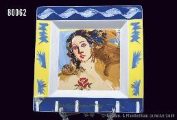 "Rosenthal Porzellan, Schale, Serie Art Collection Nr. 2, Künstler Paul Giovanopoulos, Frauenkopf """