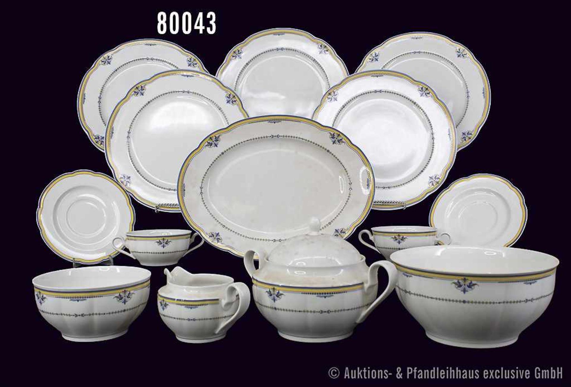Konv. Rosenthal Porzellan, 23 Teile, Rosenthal classic, Pearl China, Serie Grace, Dekor