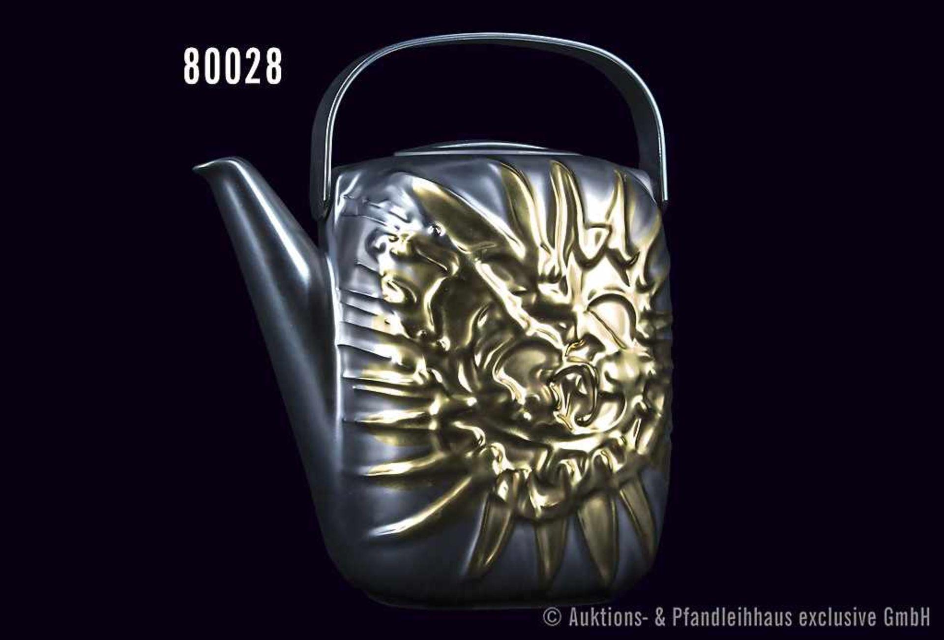 Rosenthal Porzellan, Suomiobjekt Kaffeekanne, Dekor Piene Weißgold, limitierte Kunstreihen, Nr.