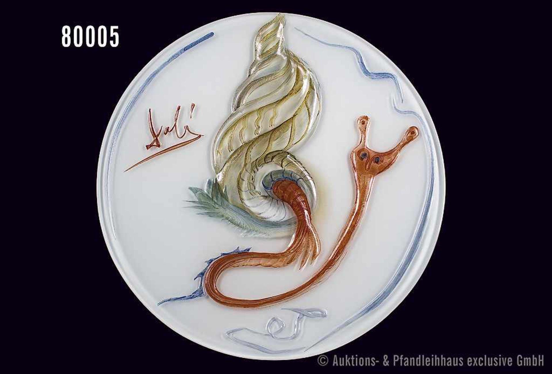 Rosenthal Porzellan, Jahresteller in Glas 1979, (Jubiläumsjahr 100 Jahre Rosenthal), Motiv