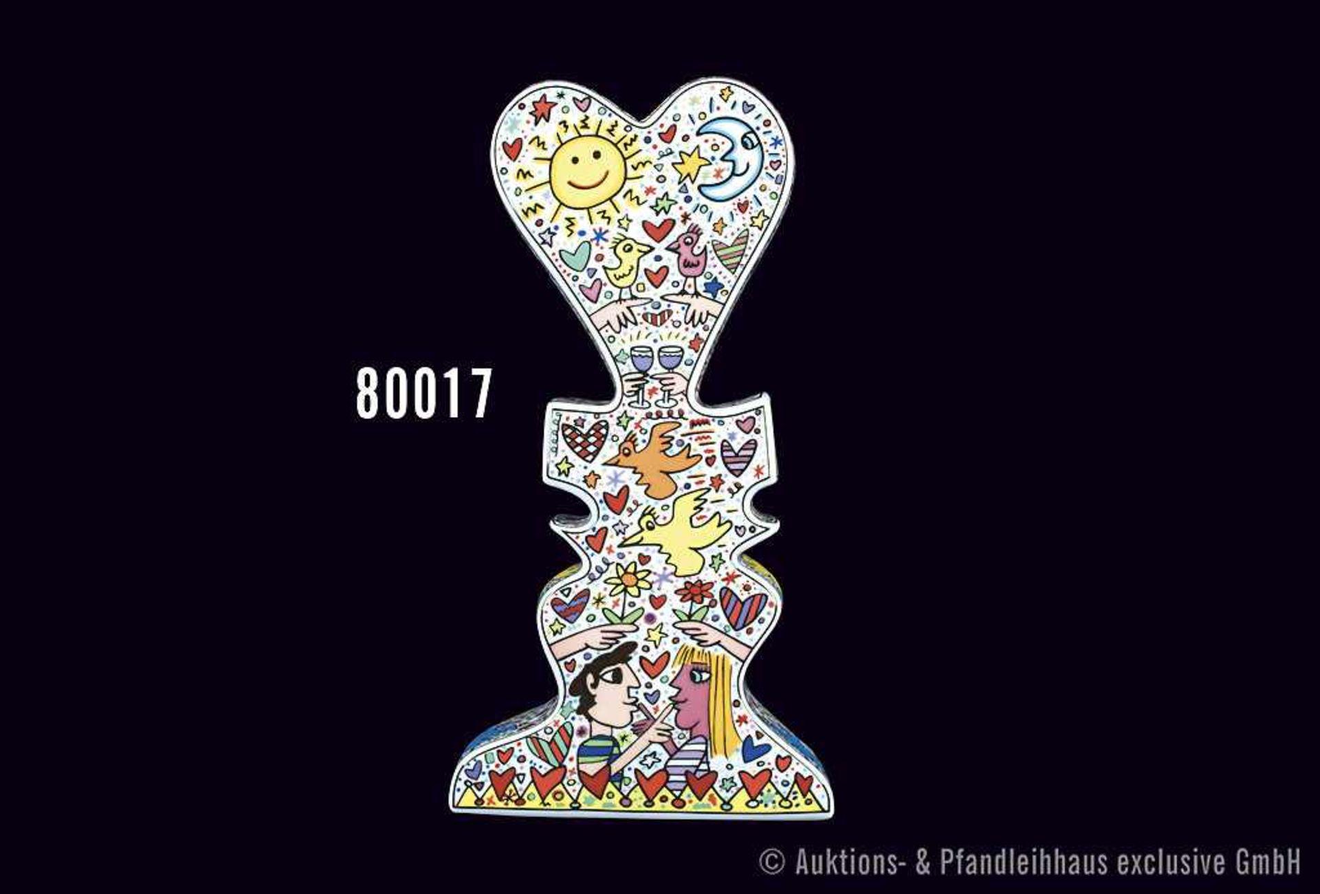 Rosenthal Porzellan, Künstlerobjekt Love Vase von James Rizzi, studio-line, limitiert, Nr. 388/