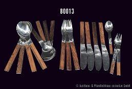 Konv. Rosenthal 18 Teile, Serie Form Duo, Dekor Palisander, dabei 4 Tafelmesser, 3 Tafelgabel, 8