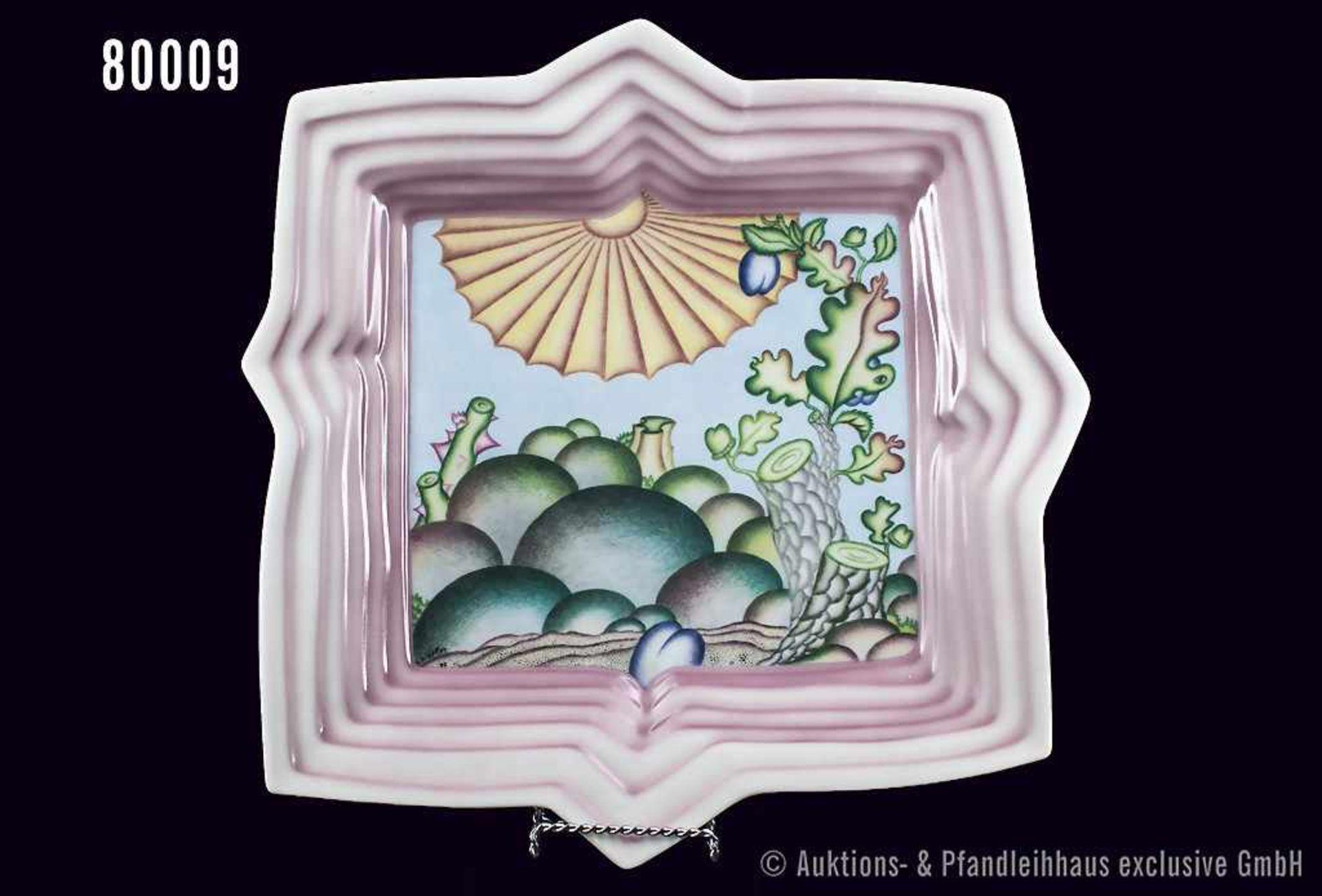 Rosenthal Porzellan, Wandrelief Jahresteller 1979, Dekor 1979 von Arnold Leissler, D ca. 35 cm,