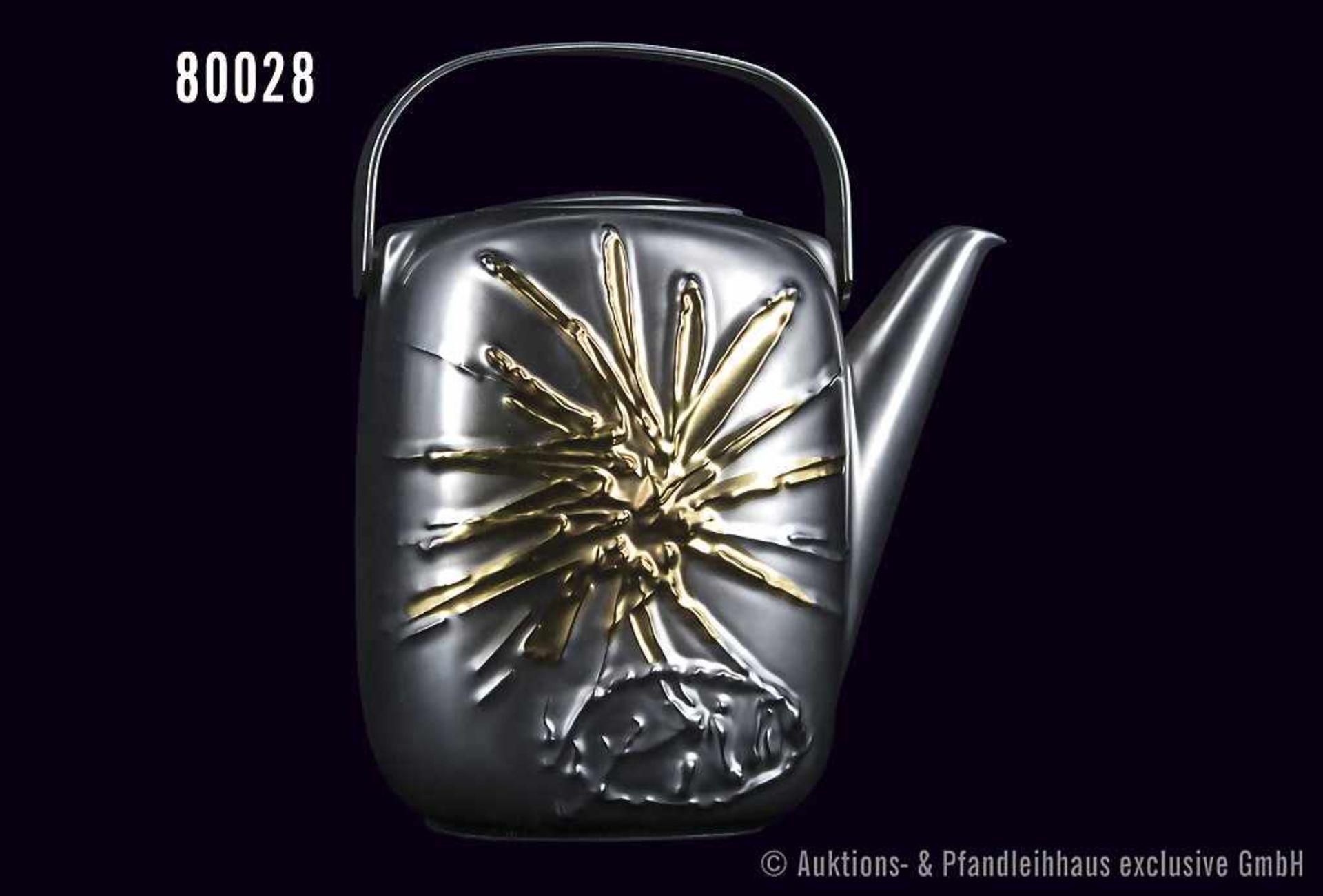 Rosenthal Porzellan, Suomiobjekt Kaffeekanne, Dekor Piene Weißgold, limitierte Kunstreihen, Nr. - Bild 2 aus 2