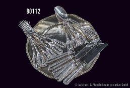 Konv. Rosenthal, 19 Teile, dabei Platzteller/Servierplatte, Serie Maria, Silberauflage mit