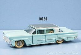 Dinky Toys 532 Lincoln Premiere, pastellblau lack. Metallgußausf., mit silbernem Dach, M 1:43,