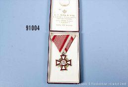 Österreich Militärverdienstkreuz 3. Klasse mit Kriegsdekoration, in dazugehöriger