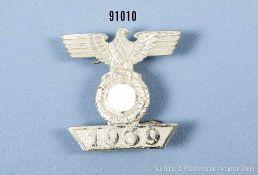"""Spange zum EK 2 1939, Buntmetallausf., Hersteller """"L/11"""", rückseitig 4 Splinte, guter Zustand- - -"""