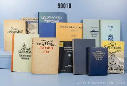 """Konv. 12 militärhistorische Bücher aus der Bibliothek Otto Schniewinds, u. a. """"Taschenbuch der"""