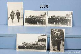 Konv. großformatige Privatfotos von Admiral Otto Schniewind aus der Zeit seiner militärischen