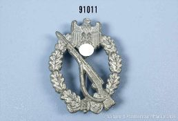 """Infanterie-Sturmabzeichen in Silber, Zinkausf., Hersteller """"L/56"""", guter Zustand mit Altersspuren- -"""