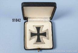 """EK 1 1939, entnazifiziert, Hersteller """"15"""" auf der Nadel, im dazugehörigen Etui, guter Zustand mit"""