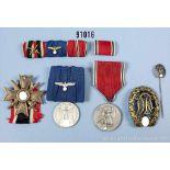 Konv. Anschlussmedaille Österreich mit dazugehöriger Feldspange, KVK 2. Klasse mit Schwertern,