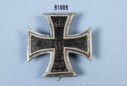 """EK 1 1914, gewölbte Ausf., Herstellerpunze von """"Meybauer"""", Silberpunze """"900"""", die Nadel ergänzt,"""