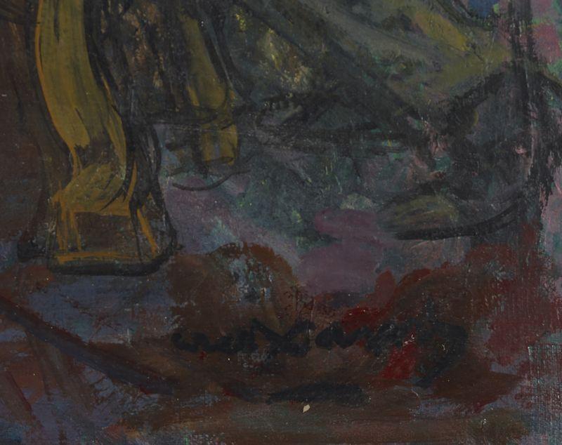 Lot 57 - Pedro CREIXAMS (1893-1965) - Scène de cabaret - Huile sur toile signée en bas à [...]