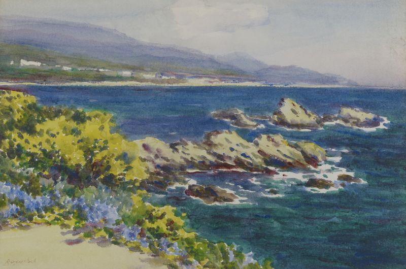 Lot 8 - Isidore ROSENSTOCK (1880-1956) - Bord de mer Aquarelle signée en bas à gauche - 18 [...]
