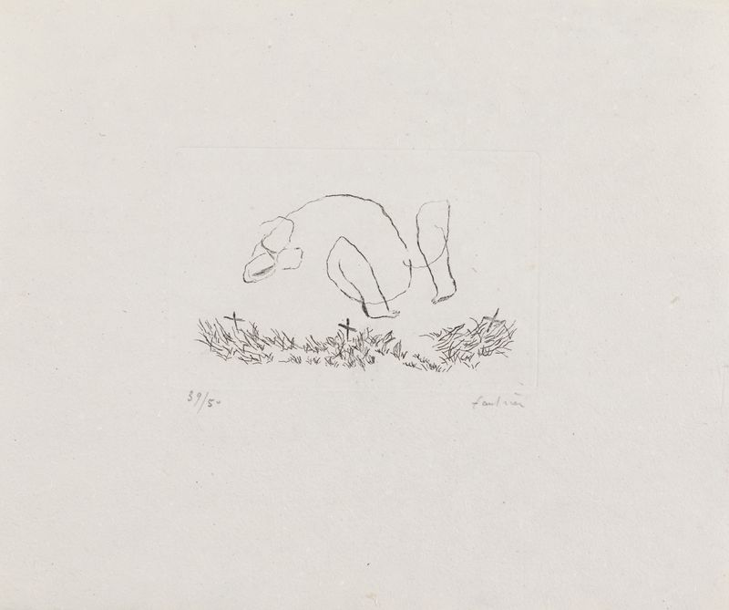 Lot 30 - Jean FAUTRIER (1898- 1964) - Petit nu M - Eau forte sur Vergé d'Auvergne, signée au [...]