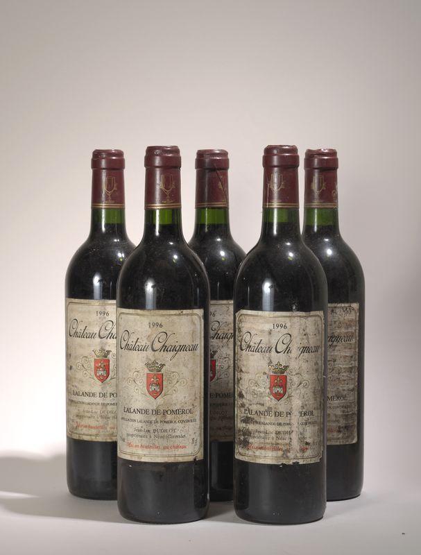 Lot 63 - 5 bouteilles Château Chaigneau, 1996, Lalande de Pomerol, 1988 - - 5 bottles [...]
