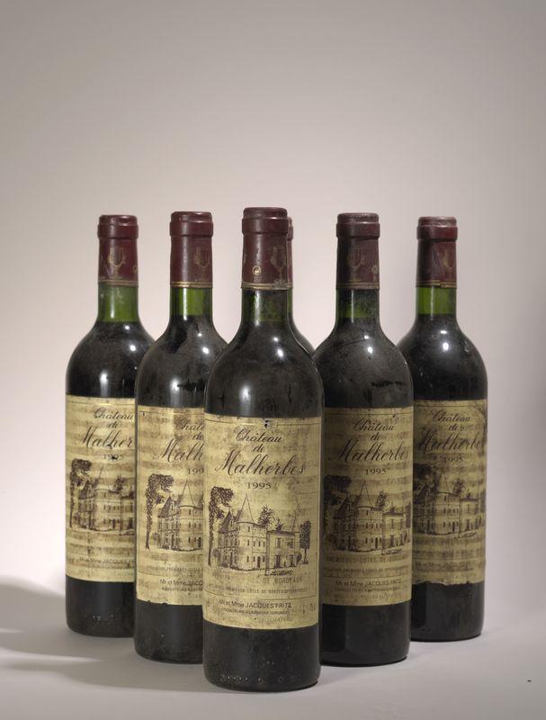 """Lot 77 - 5 Bouteilles Bordeaux 1994 commémoration """"50ème anniversaire du débarquement, 6 [...]"""