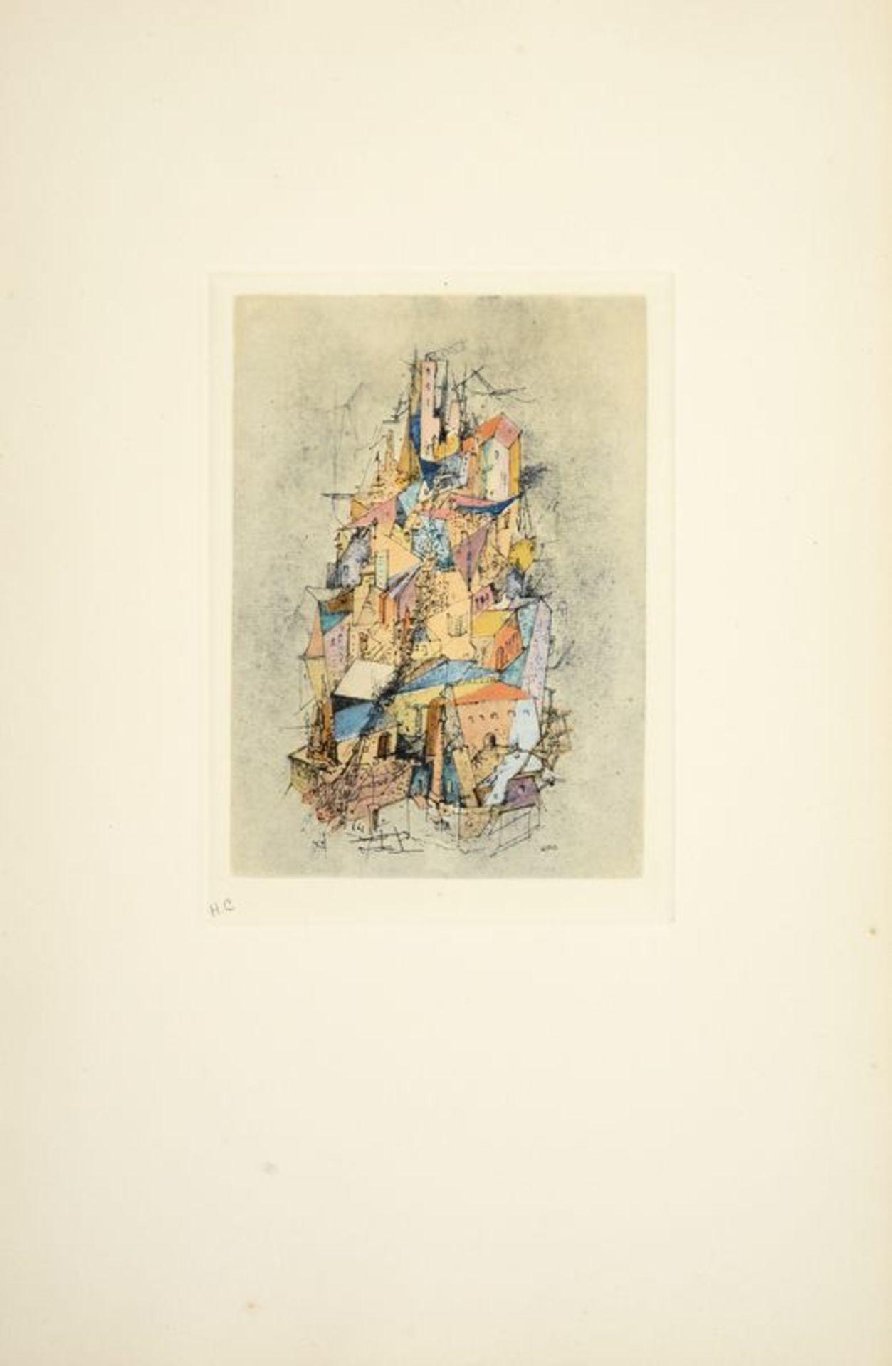 Los 14 - Otto WOLS (1913 - 1951) - Soleil sur la ville déserte - Gravure en couleurs sur [...]