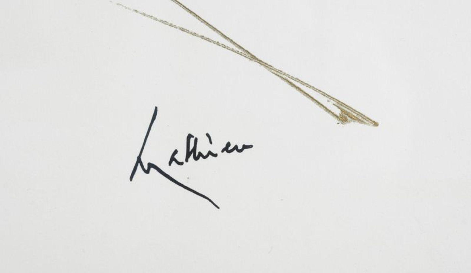 Los 48 - Georges MATHIEU (1921- 2012) - Composition - Technique mixte sur panneau signée en [...]