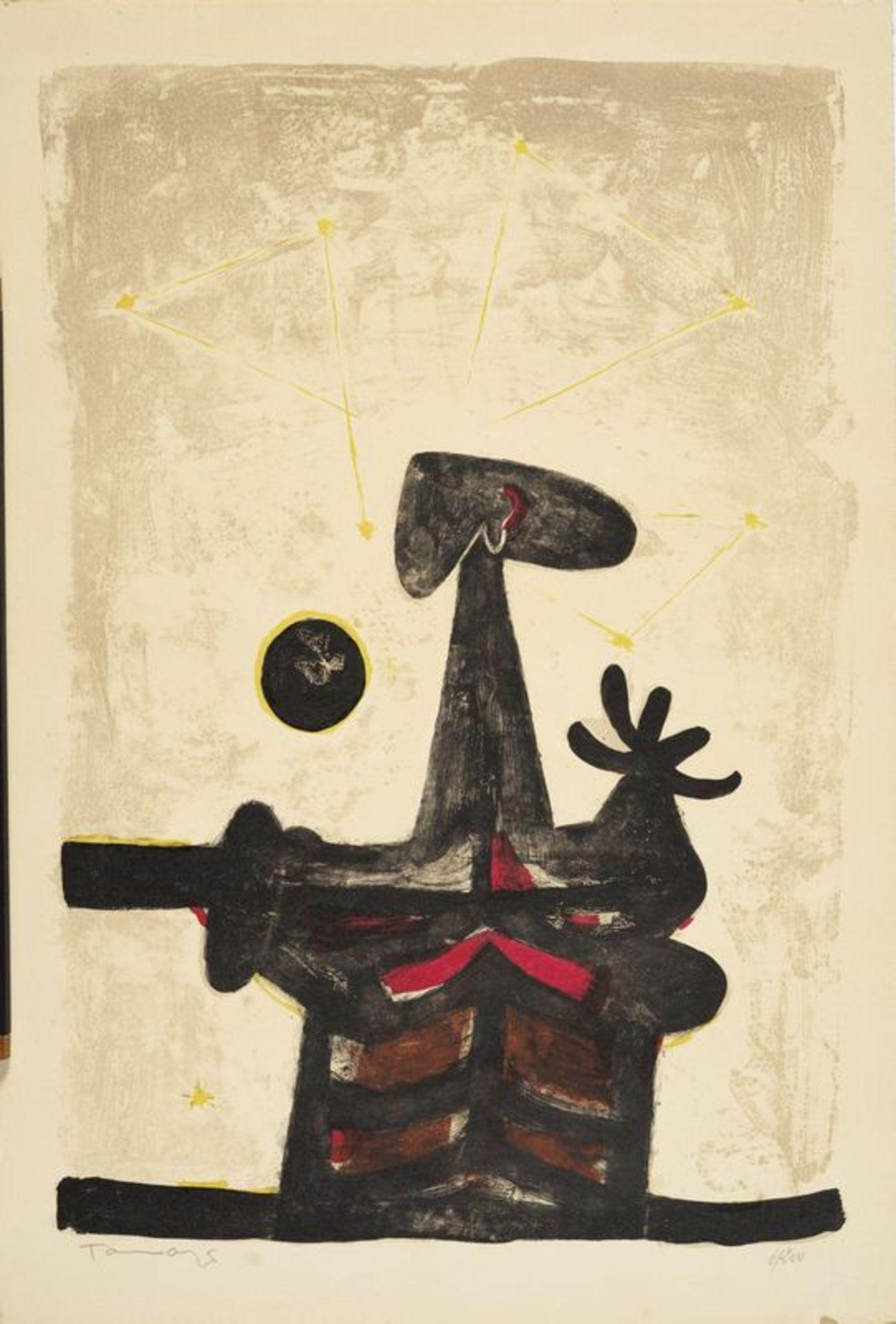 Los 24 - Rufino TAMAYO (1899-1991) - Composition - Lithographie signée au crayon et [...]