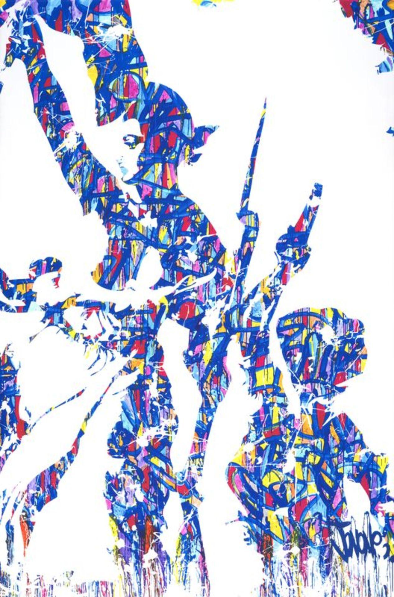 JONONE(1963) - Liberté, Egalité, Fraternité - Sérigraphie sur toile signée dans [...]