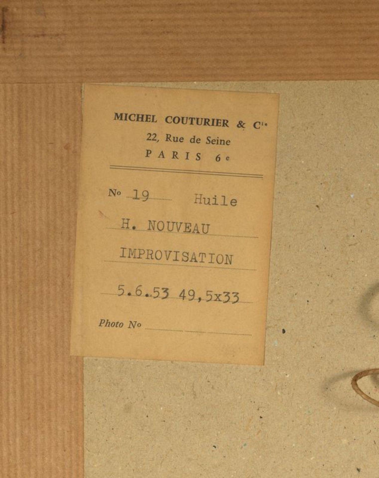 Henri NOUVEAU (1901-1959)- Improvisation - Huile sur papier monogrammée et datée [...] - Bild 2 aus 2