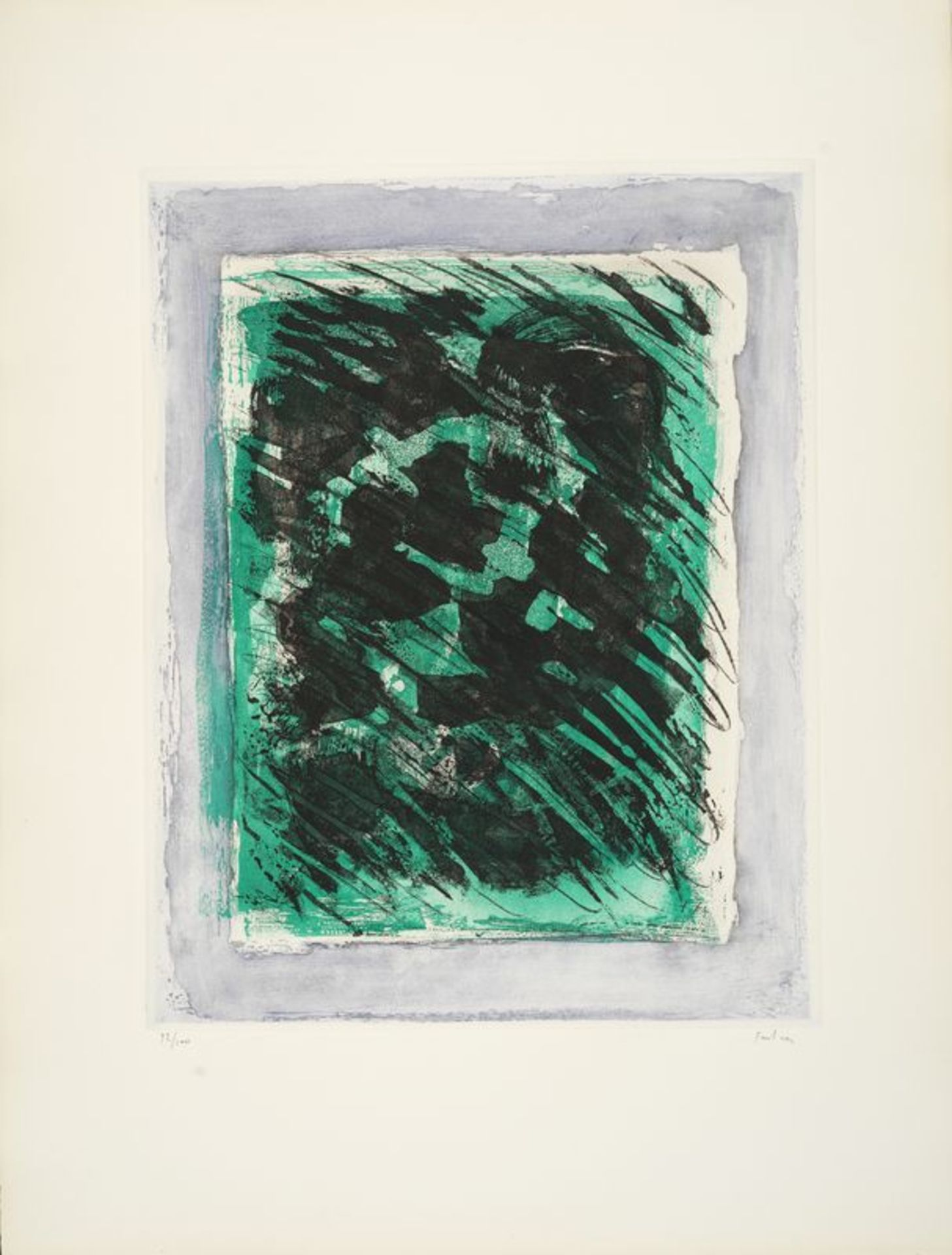 Los 20 - Jean FAUTRIER (1898-1964) - La forêt, 1964 - Aquatinte et lavis sur vélin d'Arches, [...]