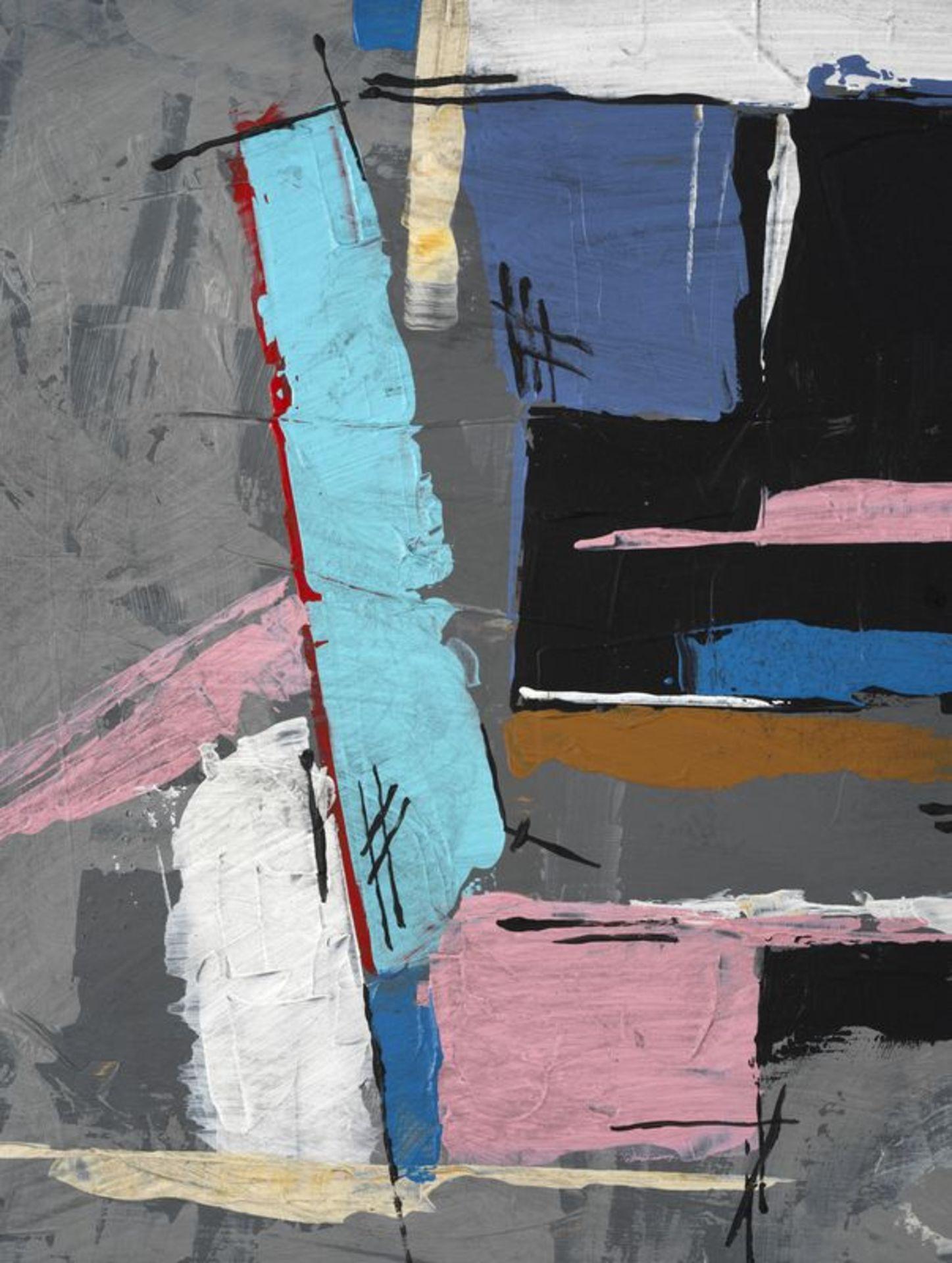 Los 52 - Francis BOTT (1904-1998) - Composition- Huile sur carton signée en bas à droite et [...]
