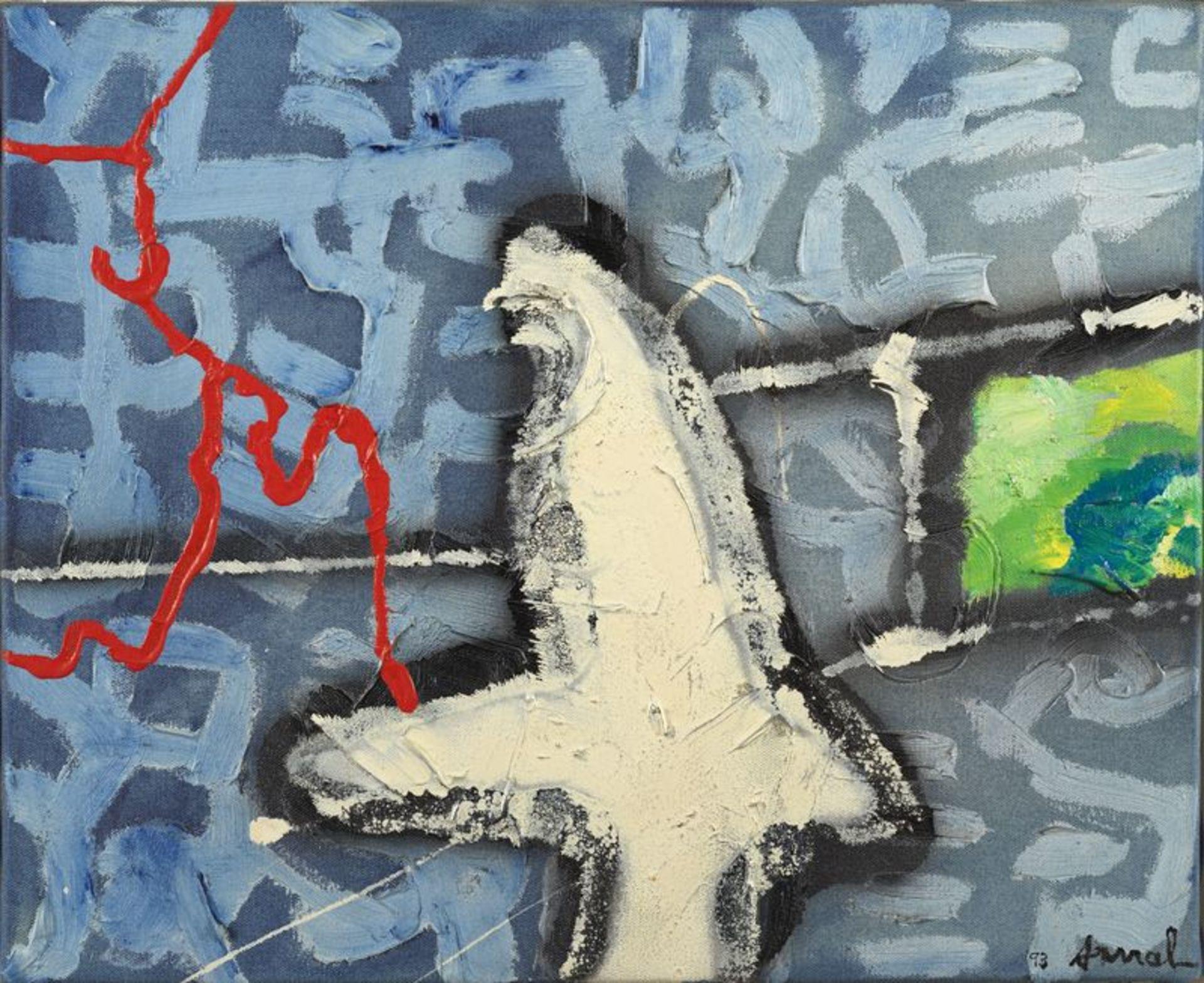 Los 54 - François ARNAL (1924-2012) - Sur la mer calmée - Huile sur toile signée en bas à [...]