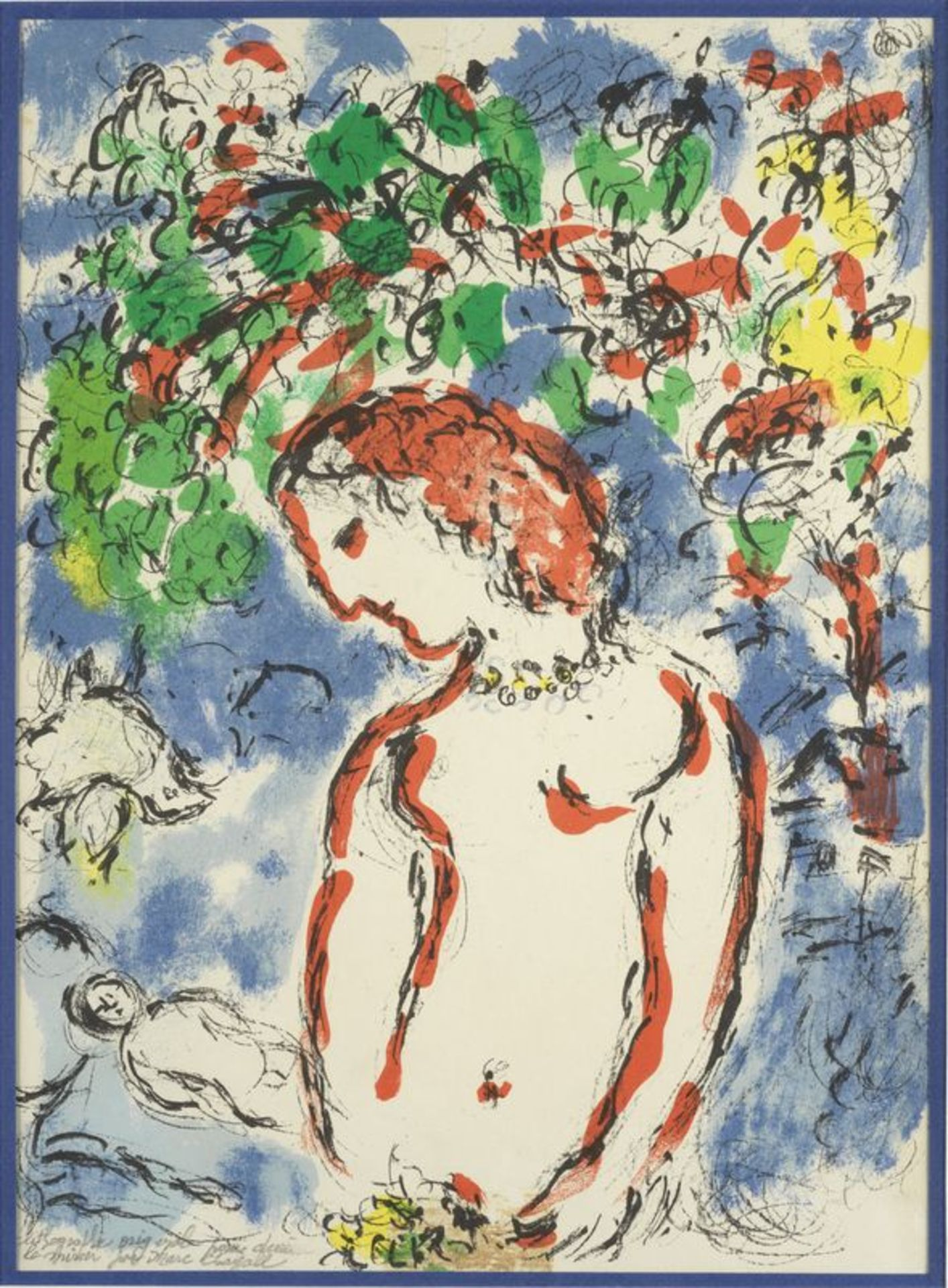 Los 25 - Marc CHAGALL( 1887-1985) - Printemps - Lithographie originale Derrière le Miroir, [...]