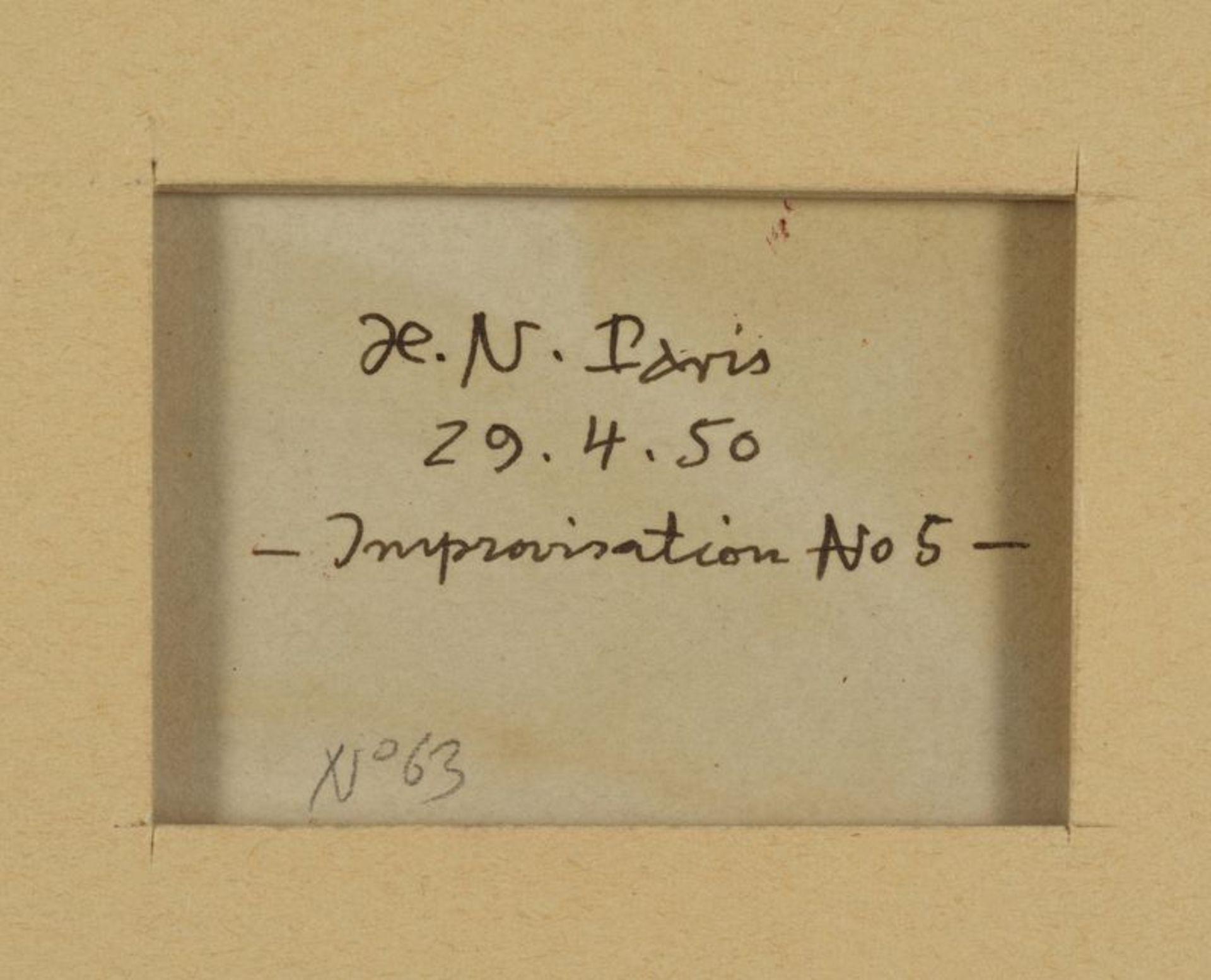 Henri NOUVEAU (1901-1959) - Improvisation, N°5 - Huile sur papier monogrammée, [...] - Bild 2 aus 2
