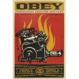OBEY (1970) - Print and destroy - lithographie signée en bas à droite et datée [...]