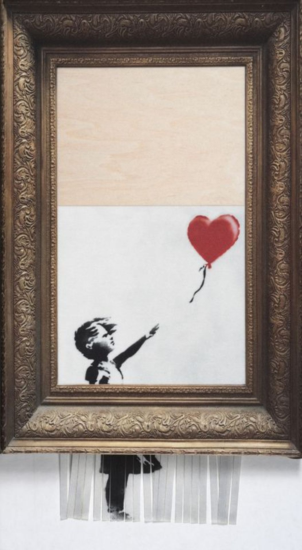 Los 10 - Girl With Balloon, Love Is In The Bin Canvas Lithograph Limited - 22 x 26 cm - [...]