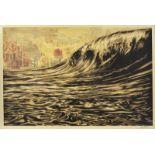 OBEY (1970) - Dark wave- lithographie signée en bas à droite et datée (19)19 - [...]