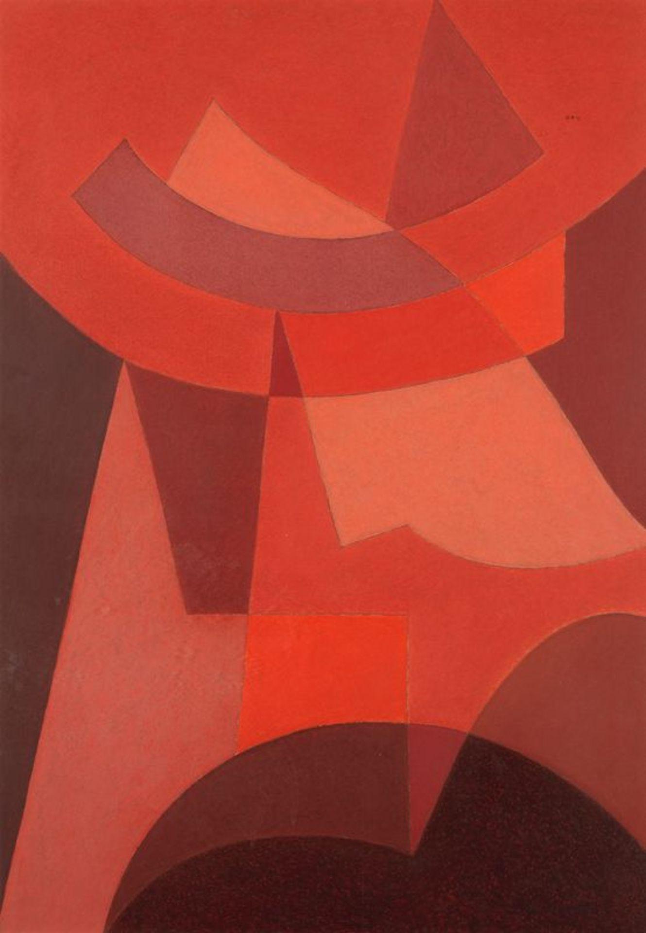 Henri NOUVEAU (1901-1959) - Improvisation, N°5 - Huile sur papier monogrammée, [...]